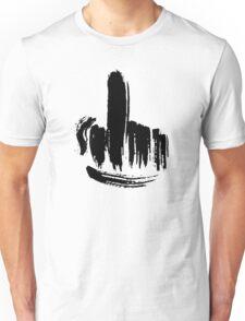 Brush Stroke Middle Finger Unisex T-Shirt