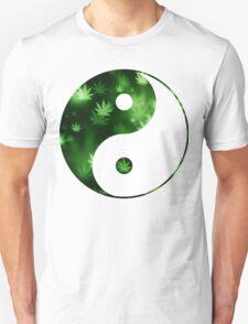 Yin Yang Weed Unisex T-Shirt