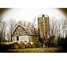 BARN FROM DAYS OF YORE Photographic Print