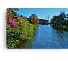 River Taff & Millennium Stadium, Cardiff Canvas Print