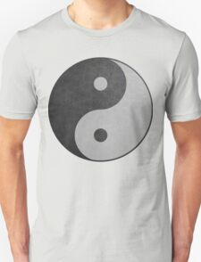 Weed Yin Yang (Black and White) T-Shirt