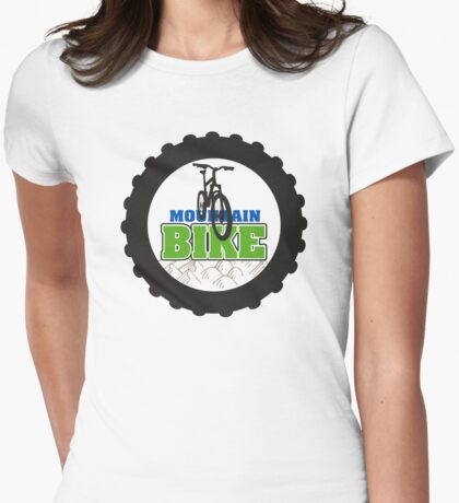 Mountain Bike Cycling Bicycle  Womens Fitted T-Shirt