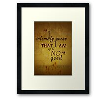 Harry potter I solemnly swear that I am up to no good poster  Framed Print