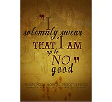 Harry potter I solemnly swear that I am up to no good poster  Photographic Print