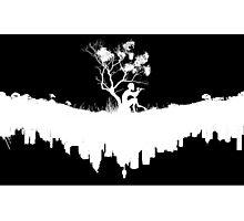 Urban Faun - White on Black Photographic Print