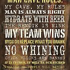 Man Cave Rules by Debbie DeWitt