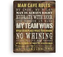 Man Cave Rules Canvas Print