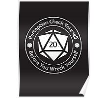 Perception Check Yourself Before You Wreck Yourself Poster