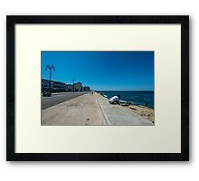 Contemplating a sea of silent troubles  Framed Print