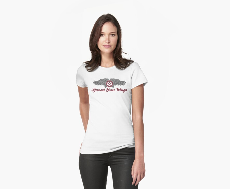 Bike Cycling Spread Your Wings by SportsT-Shirts