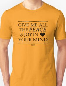 Muse Bliss Lyrics Design  Unisex T-Shirt
