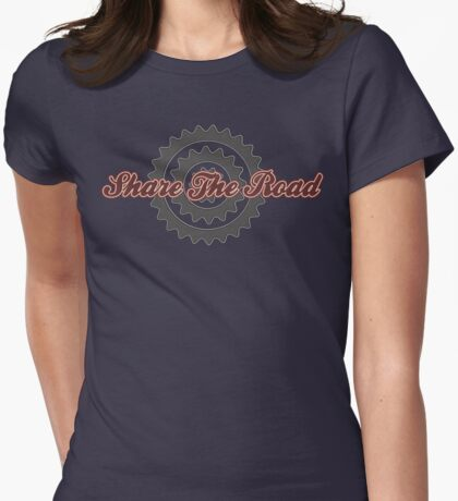 Bike Cycling Share The Road Womens Fitted T-Shirt