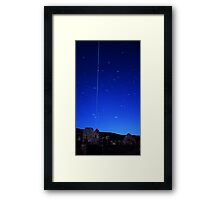 ISS Over Gower Framed Print