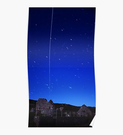 ISS Over Gower Poster