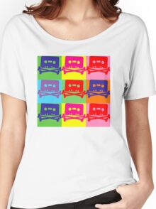 Pop Art Tape and Bones Women's Relaxed Fit T-Shirt