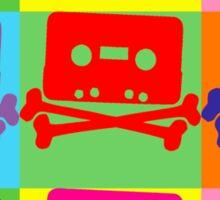 Pop Art Tape and Bones Sticker