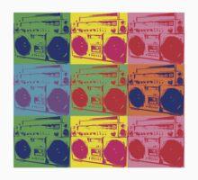 Pop Art Boombox by retrorebirth