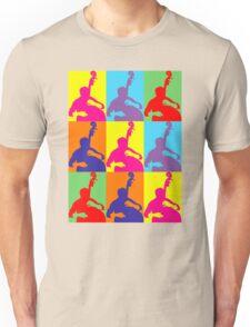 Pop Art Acoustic Bass Player Unisex T-Shirt