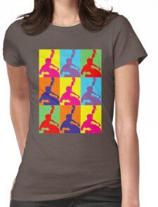 Pop Art Acoustic Bass Player Womens Fitted T-Shirt