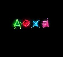 PLAYSTATION Neon Buttons by PEDRORJASS