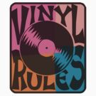 Vinyl Records Rule Pop Art by retrorebirth