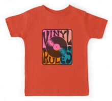 Vinyl Records Rule Pop Art Kids Tee