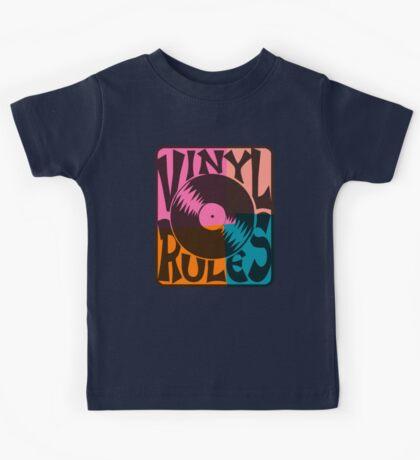 Vinyl Records Rule Pop Art Kids Tee