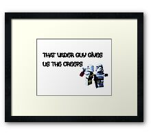 That Vader Guy Gives Us the Creeps by Tim Constable Framed Print