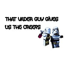 That Vader Guy Gives Us the Creeps by Tim Constable Photographic Print