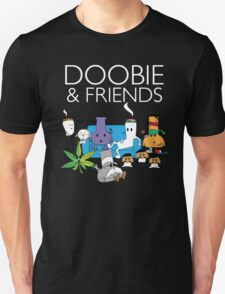 Doobie and Friends - White text Unisex T-Shirt