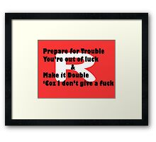 Double Trouble Honesty Framed Print