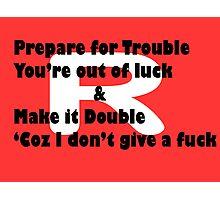 Double Trouble Honesty Photographic Print