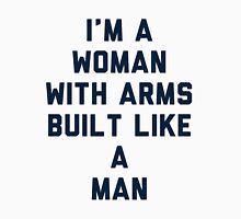 Woman Built Like a Man Womens Fitted T-Shirt