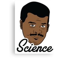 Black Science Man Canvas Print