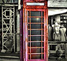 Antique Phone Booth by Savannah Gibbs