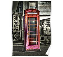Antique Phone Booth Poster
