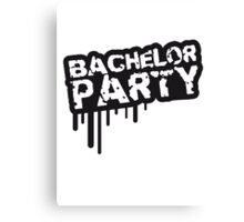 Cool bachelor party stamp design Canvas Print