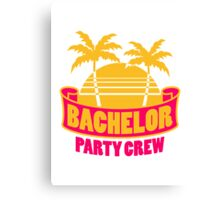 Bachelor Party Palms Holiday Canvas Print