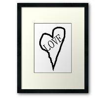 HEART LOVE (Black Print) Framed Print
