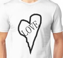 HEART LOVE (Black Print) Unisex T-Shirt