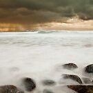 beach scene, isle of lewis by christopher lonie