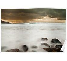 beach scene, isle of lewis Poster