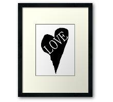 HEART LOVE (Black Fill) Framed Print