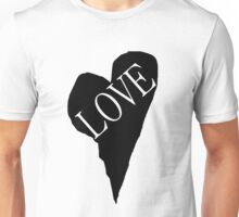 HEART LOVE (Black Fill) Unisex T-Shirt
