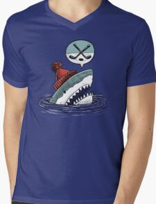 The Hockey Shark Mens V-Neck T-Shirt