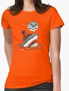 The Hockey Shark Womens Fitted T-Shirt