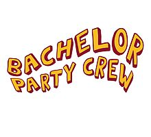 Bachelor Party Crew Comic Style by Style-O-Mat