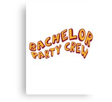 Bachelor Party Crew Comic Style Canvas Print
