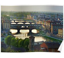 Florence Sunset Panorama Poster