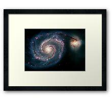 Illuminati Eye: Whirlpool Galaxy V2 | New Illuminati Framed Print